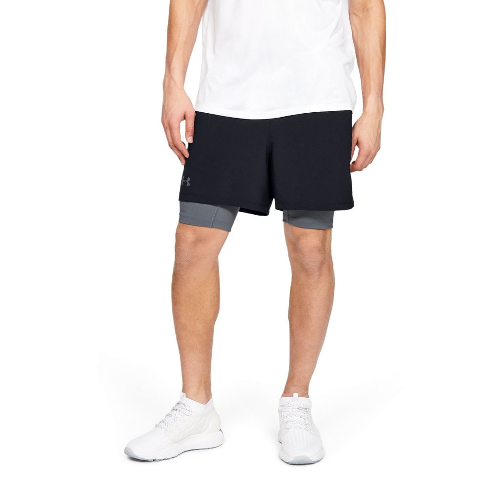 Shorts de Treino Masculino Under Armour QUnder Armourlifier Armourlifier 2-in-1