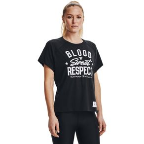 Camiseta de Treino Feminina Under Armour Project Rock BSR SS
